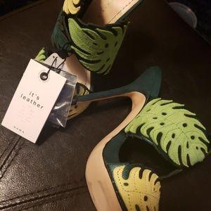 Zara 100% suede/leather heels